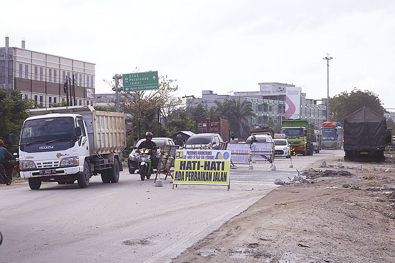 Jalan Siak II Diberlakukan Buka Tutup Hari Ini Mulai Normal Kembali