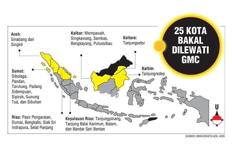 Durasi Gerhana Matahari Cincin Terlama di Riau