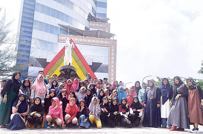 Perkuat Literasi, SDN 03 Kampung Rempak Kunjungi Riau Pos