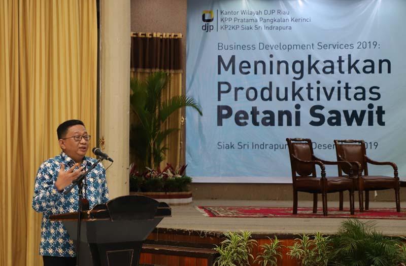 Gelar BDS, DJP Riau Edukasi Pelaku Usaha Perkebunan