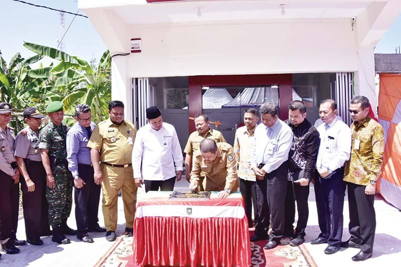 Bupati Resmikan Kantor Kas Bank Riau Kepri Medang