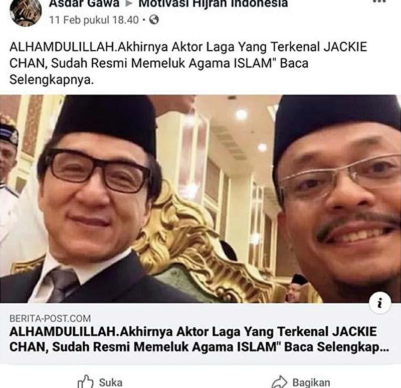 Jackie Chan Diisukan Pindah Agama