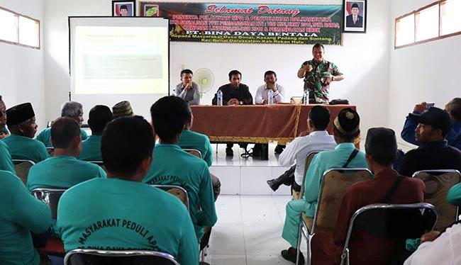 PT BDB Sosialisasi FPIC Pembangunan HTI dan Pelatihan MPA