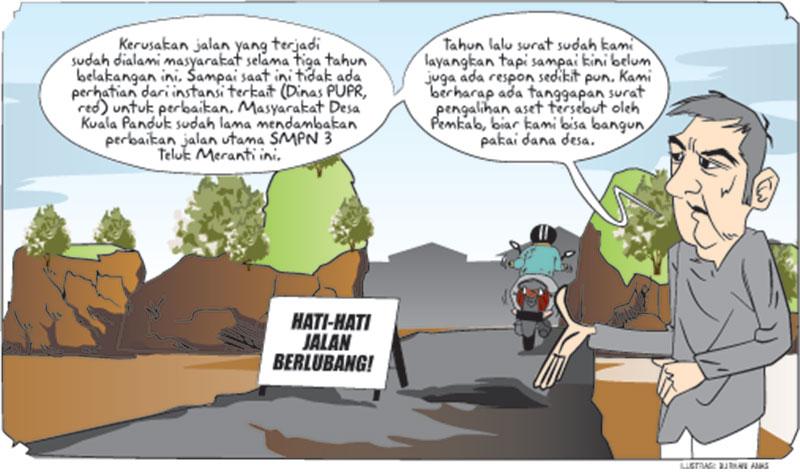 Jalan Desa Kuala Panduk Rusak