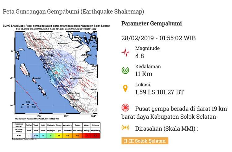 Gempa Terasa Sampai ke Pekanbaru