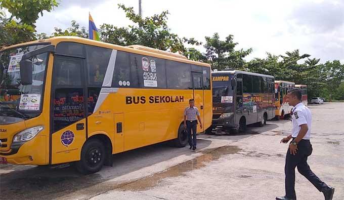 Pemkab-Polres Kampar Luncurkan Bus Sekolah Gratis