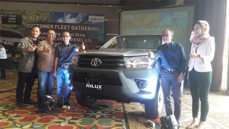 Pakai Mesin Baru, Toyota Luncurkan New Hilux Single Cabin Diesel di Pekanbaru