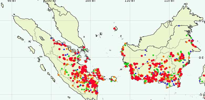 211 Hotspot Riau Buat Jarak Pandang Terbatas, Terendah Pelalawan Hanya 300 Meter