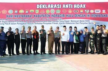 Tiga Jenderal Deklarasi Anti-Hoax di Inhu