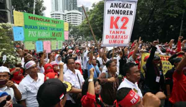 Nasib Honorer K2 Terkatung akibat Lambannya Revisi UU ASN