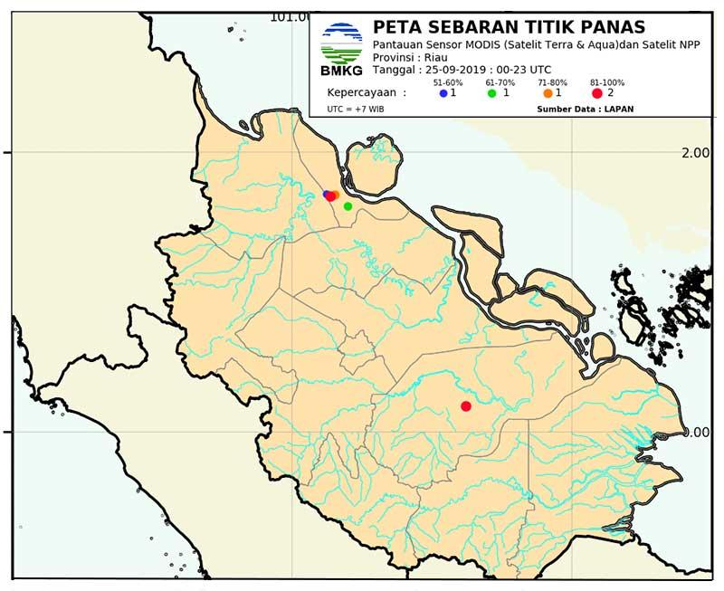 BMKG Prediksi Hujan Merata di Riau