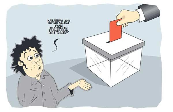 Pemilu 2019 Gunakan Kotak Transparan