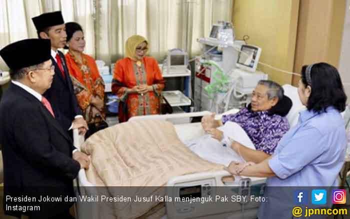 Jenguk SBY di RSPAD Bersama JK, Ini Kata Jokowi