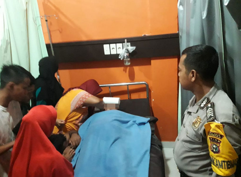 Polisi Minta Lubang Drainase di Kota Bangkinang Ditutup