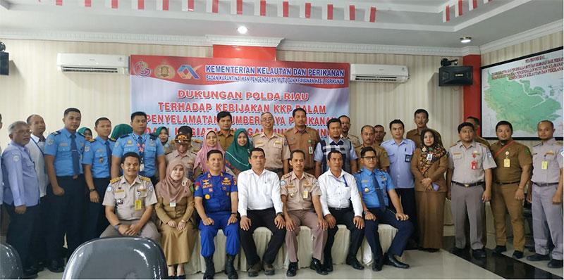 Polda Riau Sosialisasi Kebijakan Kementerian Kelautan Dan Perikanan (KKP)