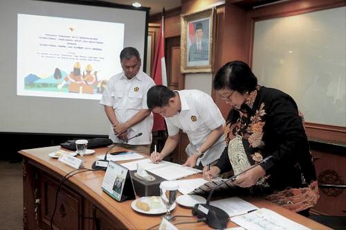 KLHK dan Kementerian ESDM Teken MoU Tentang Pengelolaan Lingkungan
