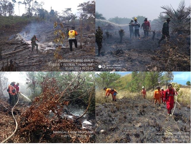 KLHK, TNI dan Polri  Padamkan Kebakaran Hutan dan Lahan (Karhutla) Di Beberapa Provinsi Rawan