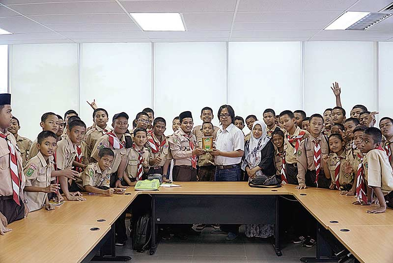 Siswa SMP IT Al-Ihsan Belajar Jurnalistik di Riau Pos
