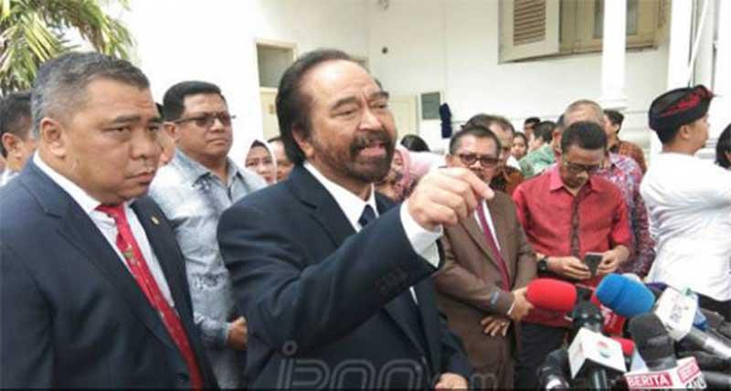 Isyarat Surya Paloh soal Jokowi dan Parpol Pendukung Tak Mau Perppu KPK