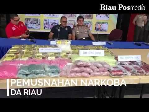 Pemusnahan Narkoba di Mapolda Riau
