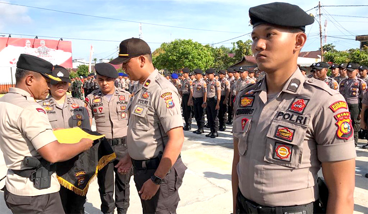 Sempat Ricuh, Polres Meranti Terjunkan Satu Pleton Amankan Pleno di Merbau