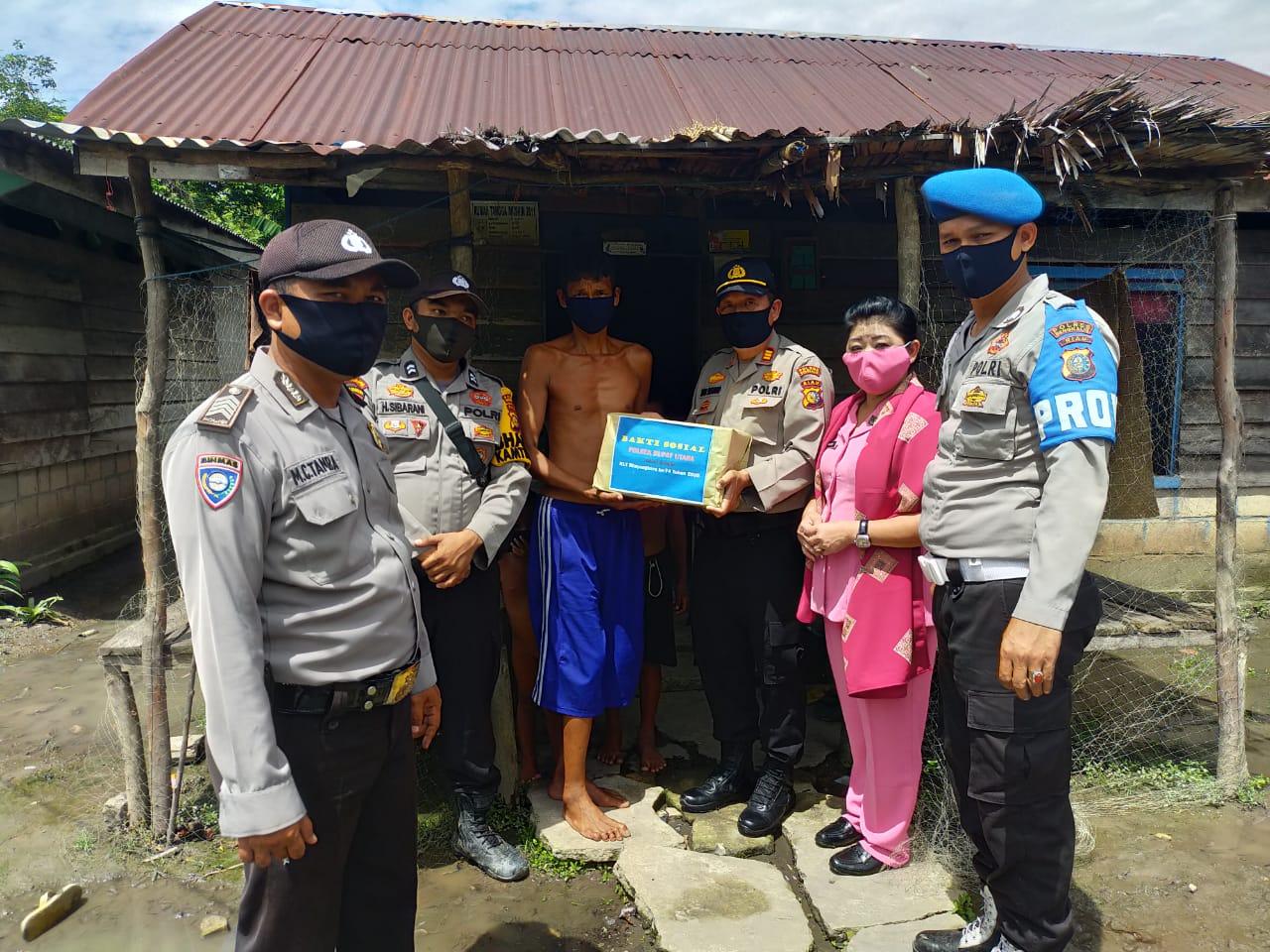 Polsek Rupat Utara Berbagi Sembako