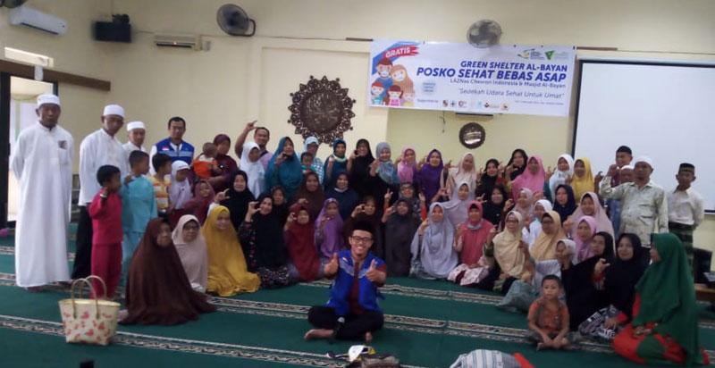 Posko Sehat Bebas Asap Masjid Al-Bayan Prioritaskan Tiga Golongan