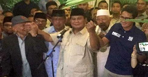 Prabowo Deklarasi Kemenangan Ketiga
