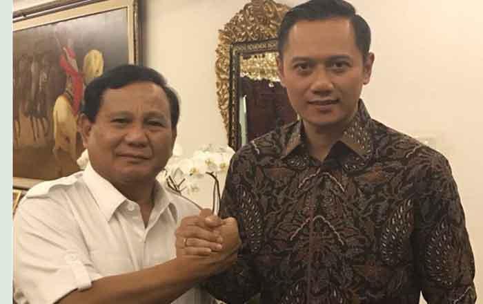 AHY Diminta Prabowo Jadi Cawapres, Begini Reaksi Demokrat