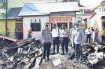 Kebakaran Kampung Dalam Hanguskan 9 Rumah, Kapolresta Turun Tangan