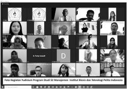 IBT Pelita Indonesia Gelar Yudisium Daring