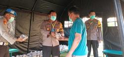 Kapolres Bantu 250 Paket Makanan Siap Saji untuk Warga Isolasi Mandiri