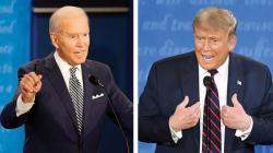 Joe Biden-Trump Saling Hina