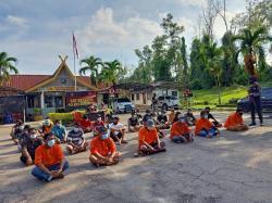 29 Orang Preman di Bengkalis Ditangkap Polisi