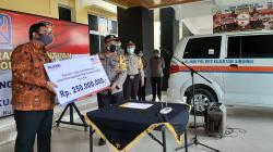 BRI Telukkuantan Bantu Ambulans untuk Mobilisasi Korban Lakalantas Polres Kuansing