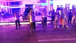 Polres Rohil Patroli Tegakkan Disiplin Pemakaian Masker pada Malam Hari