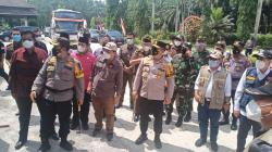 KPU dan Bawaslu RI serta Forkopimda Provinsi Riau Tinjau PSU di Rohul