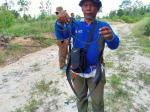 BBKSDA Temukan 45 Jerat dan Satu Perangkap Landak di Wilayah Riau
