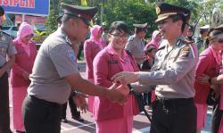 Satu Dipecat, Puluhan Personel Polres Inhu Naik Pangkat