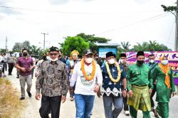 Bupati Kampar Apresiasi Gebyar Seni Budaya Desa Tri Manunggal