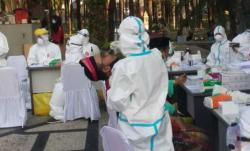Tamu Undangan Paripurna Istimewa HUT Riau Ikuti Rapid Test