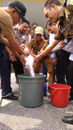 Polres Kampar Musnahkan 4,4 Kg, Satu Tersangka Terancam Hukuman Mati