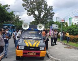 Polisi Bubarkan Aksi Unjuk Rasa Mahasiswa Tolak PPKM