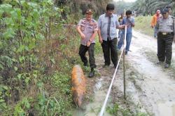 Warga Pekanbaru Temukan Mortir di Perkebunan