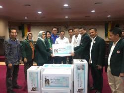 Posko Asap DPRD dan IDI Riau Terima Air Purifier IDI Jateng