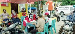 Tidak Pakai Masker, Pengunjung Pasar Di-Swab