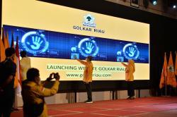 Rakerda DPD I Pertama di Indonesia, Golkar Riau Launching Website
