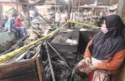 Nestapa Terbakarnya Pasar Bawah Bukittinggi