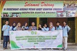 Mahasiswa Kukerta Unri Ikuti Rencana Pengembangan Industri Hilir Karet di Kuansing