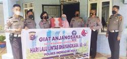 Polres Inhu Kunjungi Purnawirawan Polantas